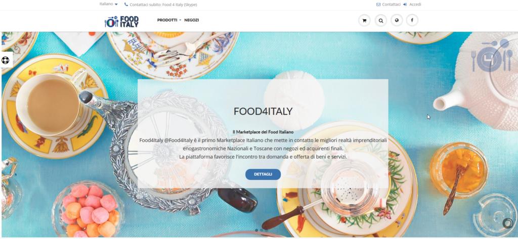 Food4Italy.com Il 1° Marketplace del Food Italiano